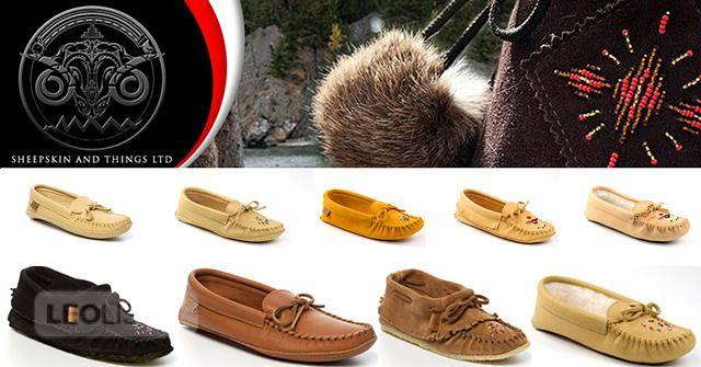 $49, Womens moccasins & mukluks made by Canadians & Huron Indians. Quality suede and leather moccasins.