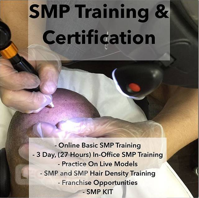 Scalp Micropigmentation (SMP), Scalp Tattoo, Tricopigmentation Training and Certification Program