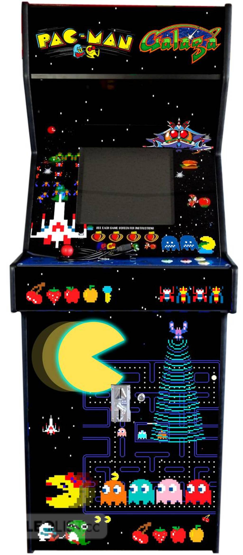 NEW Commercial Grade  tail Table or Classic Upright Ca t Arcade Multicade 60 GAMES IN ONE!
