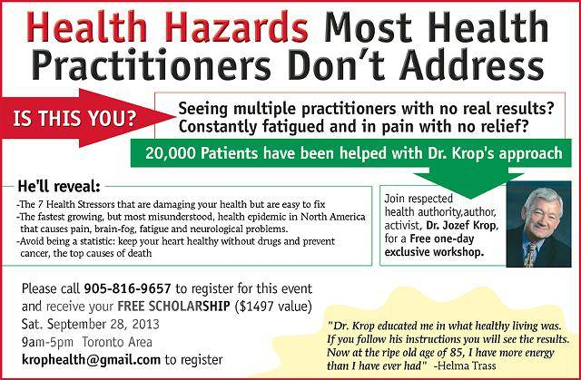 Health Hazards Most Health Practitioners Don't Address