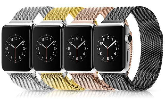 $29, Malanese Loop Stainless Steel Bracelet Apple Watch Band Straps
