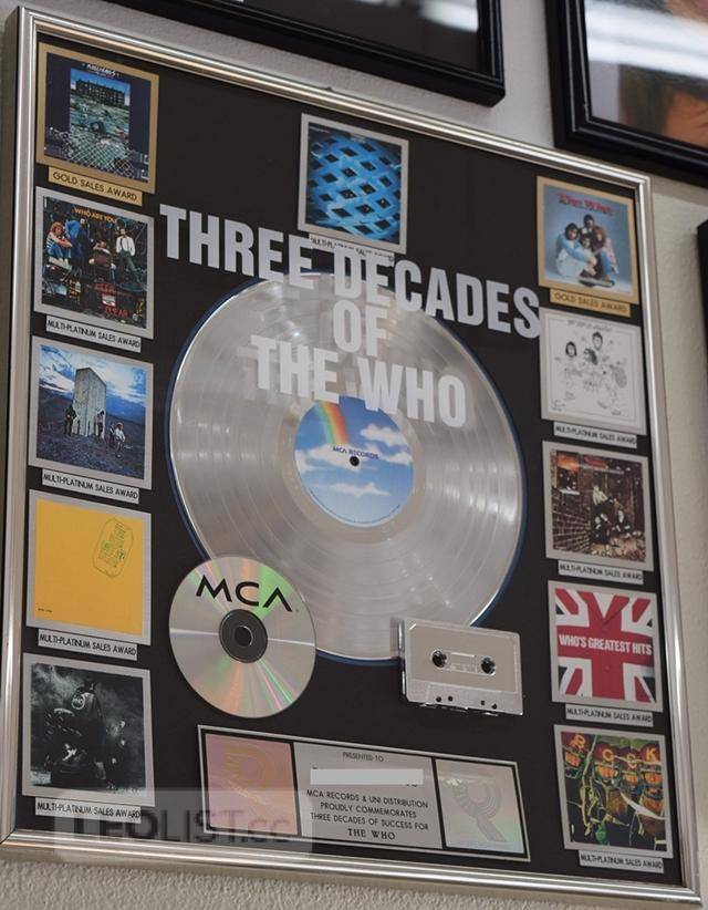 "$2,144, Especially Rare ""The Who"" Platinum Record Plaque Representing 3 Decades of The Who For Sale. (C.I.)"