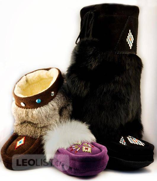 $49, Moccasins made in Canada like Spirit Moccasins, Te seh moccasins and  Laurentian Chief Moccasins