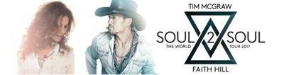 TIM MCGRAW Calgary Tickets for Soul 2 Soul Tour Concert with FAITH HILL - Friday June 2nd