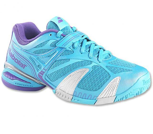 $90, WOMEN'S BABOLAT PROPULSE 4 ALL COURT (BLUE / SILVER) TENNIS S S. 31S1374  Size 7.5 US