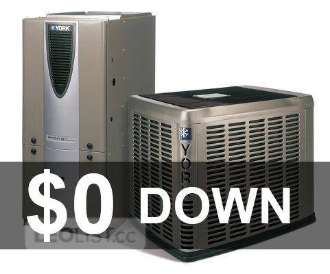 Furnace Air Conditioner Rent to Own .$0 down. NO Credit Check