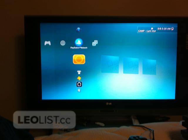 $700, 55 inch TV for sale, with a PS3 35+ games