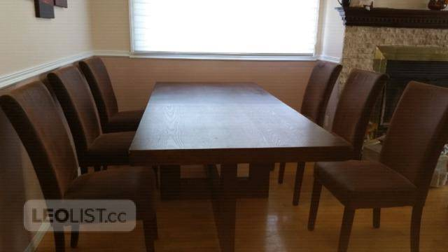 $800, Dinning table and 6 chairs