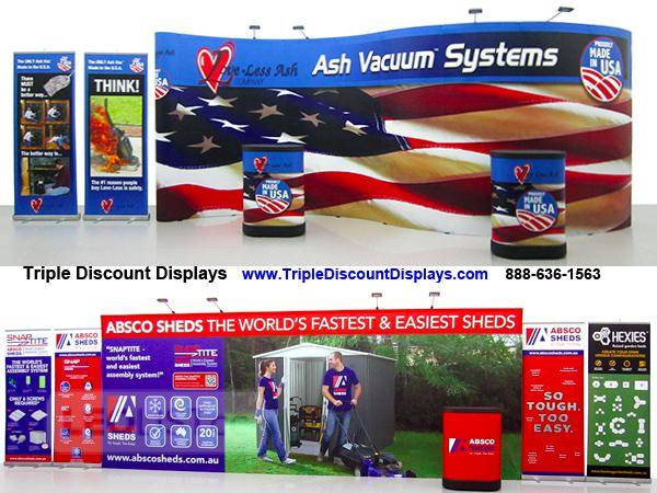 Trade show displays - FREE air shipping to Canada