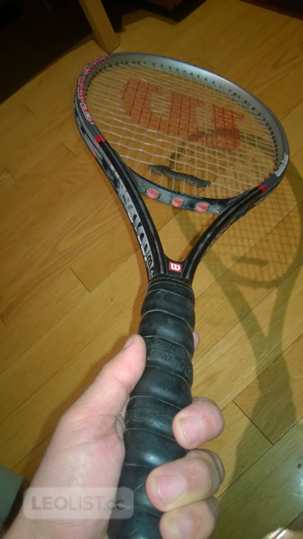 $40, Wilson Double beam Tennis Racquet  4 3/8 grip size great shape