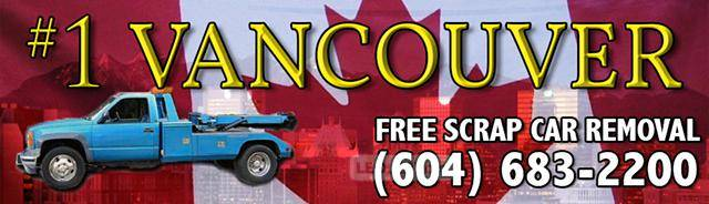 #1 SCRAP CAR DISPOSAL VANCOUVER - FREE JUNK CAR TOWING bc - 604-683-2200 Free Scrap Car Towing