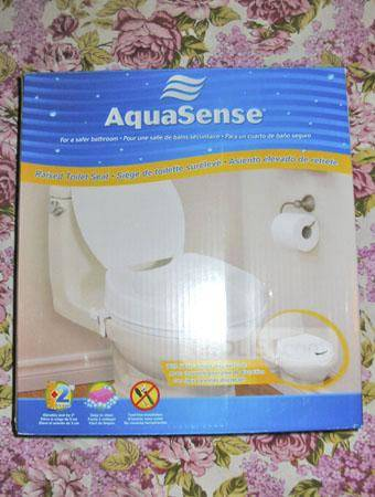 """AQUASENSE 2"""" Raised Toilet Seat with Lid (Home/Healthcare) ~ MINT!"""