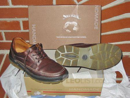 MEN'S SOFTWALK 'XIMON' Dark Brown Leather Handmade S s~ Size 9 (Made in Portugal) ~ NEW!
