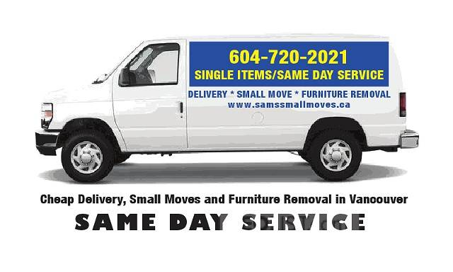 Moving Taxi-  Delivery Service / Small Moves / Junk Removal -East Vancouver Mover, Couch Disposal