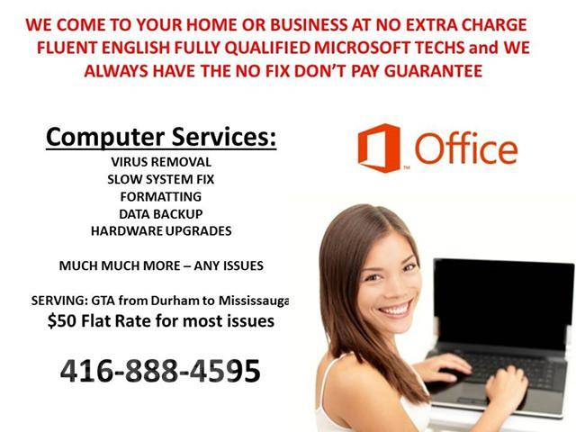 ***BEST COMPUTER SERVICES and Repairs - Techs Come onsite to your home or office from $50