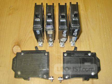 COMMANDER 20 Amp 1 Pole Circuit Breakers (CEB or Sylvania) ~ RARE!