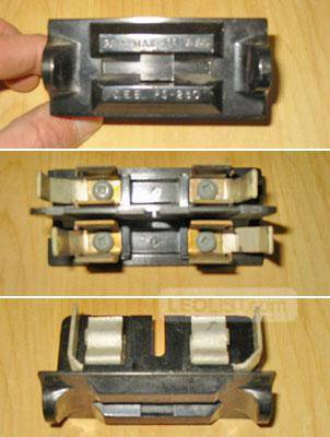 "CEB 15/30 Amp, 120/240 Volt ""OFFSET"" Fuse Cartridge Holder (Cat No: PS-230) ~ Very Rare!"