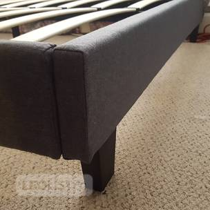 *Brand NEW* QUEEN size Grey Fabric Bed Frame #304