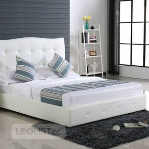 BrandNEW~ Double size Bed Frame (White Faux Leather)#206