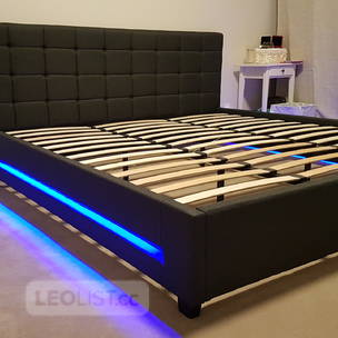 Brand NEW* KING size LED Bed Frame (Grey Fabric) #401