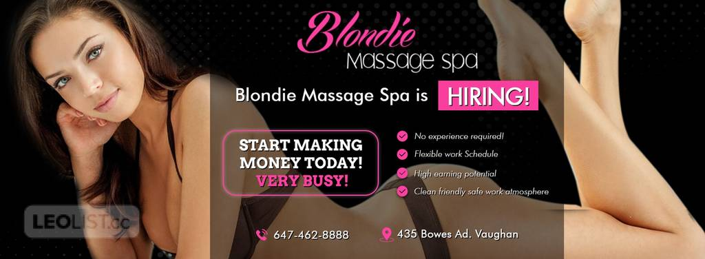 ❣️👠BLONDIE MASSAGE IS HIRING BEAUTIFUL. LADIES!👠BUSY!👠